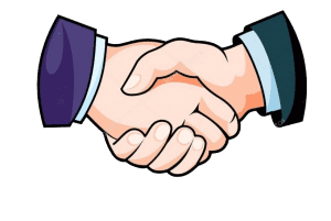 hand shake we are the best